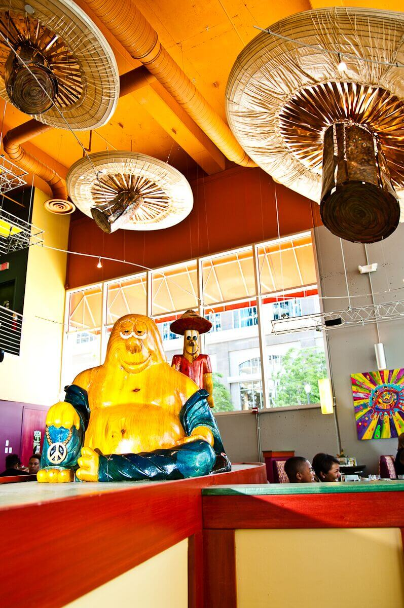 Mellow Mushroom Downtown Atlanta - mel sculpture feature art main dining area