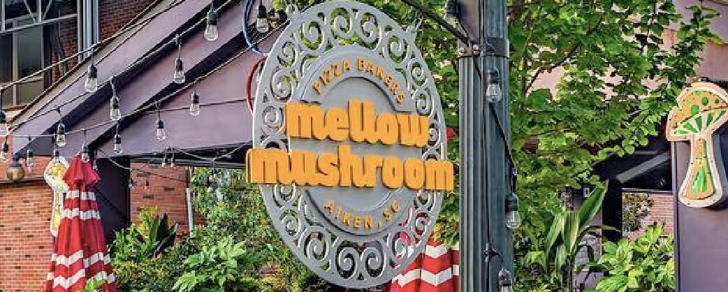 Mellow Mushroom Aiken store information signage
