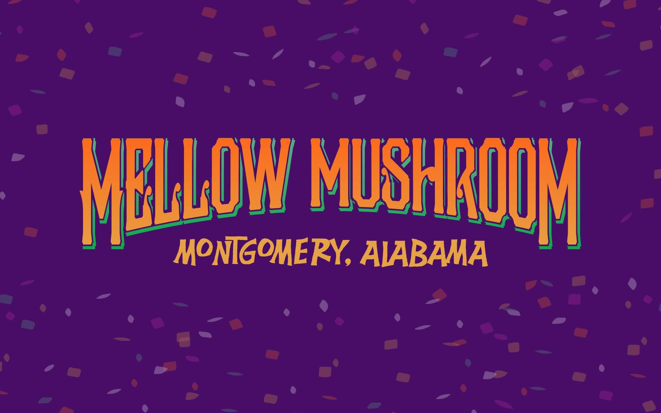 Mellow Mushroom Downtown Montgomery store information local design logo