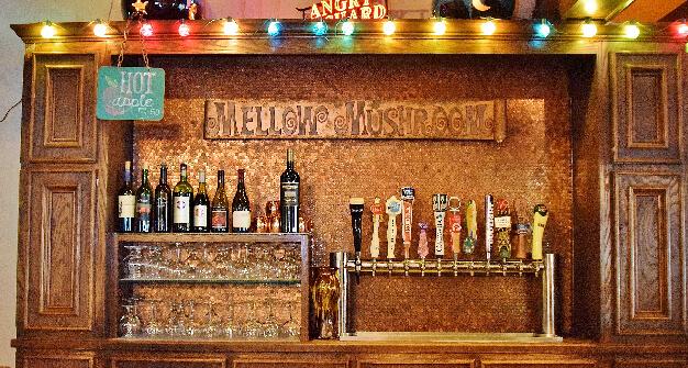 Mellow Mushroom Gainesville bar area beer taps