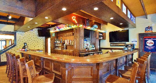 Mellow Mushroom Gainesville bar area downstairs high tops