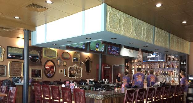 Mellow Mushroom Owensboro bar area high tops