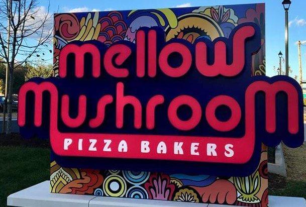 Mellow Mushroom Roanoke sign exterior store information