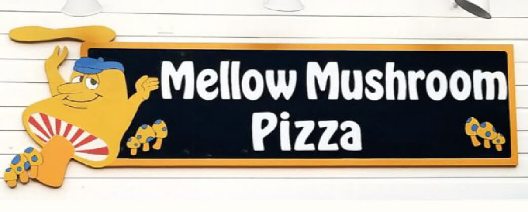 Mellow Mushroom Vinings store information signage