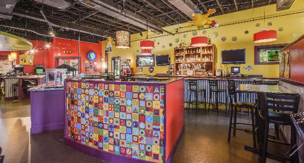 Mellow Mushroom Wake Forest bar high top host stand