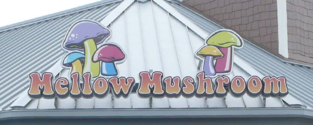 Mellow mushroom myrtle beach signage