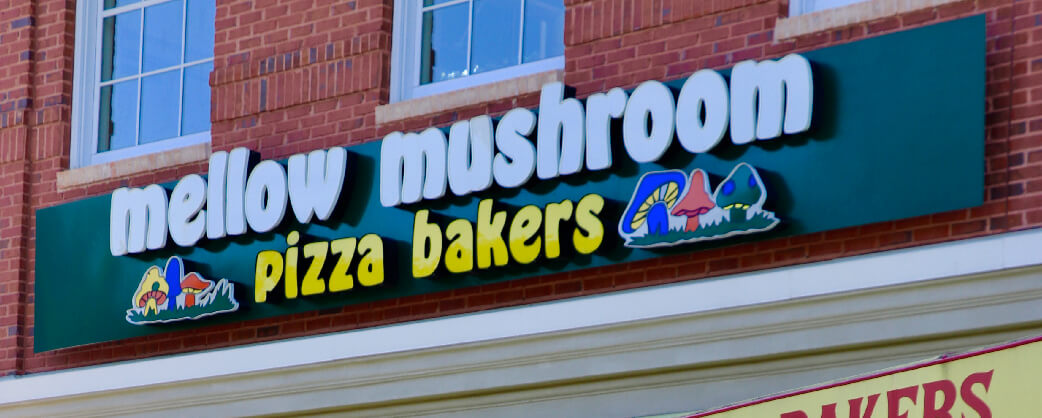 Store information About Mellow Mushroom Windward store signage