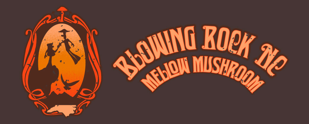 Store information Mellow Mushroom Blowing Rock unique store design logo