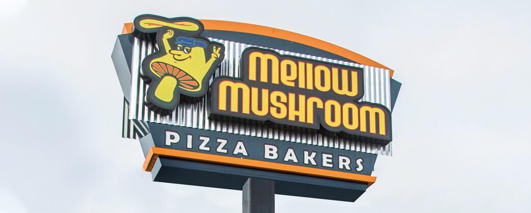 Store information Mellow Mushroom Burlington exterior signage2