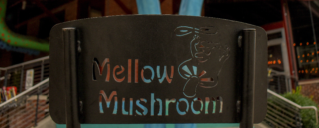 Store information Mellow Mushroom Durham exterior signage