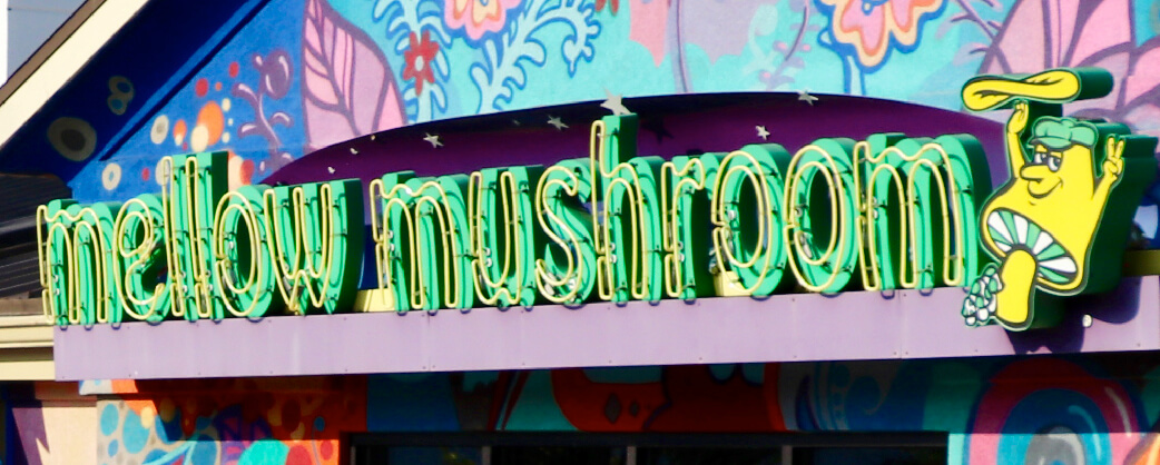 store informaiton Mellow Mushroom Buckhead signage