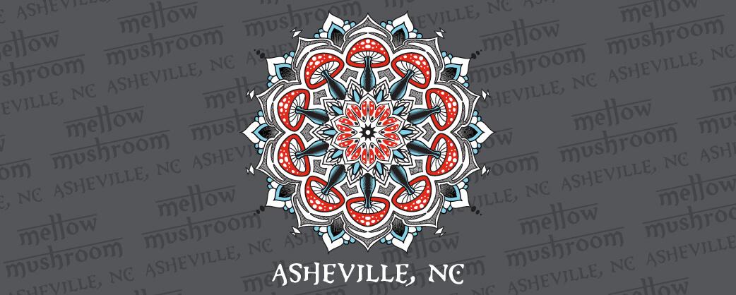 store information Mellow Mushroom Asheville local design logo