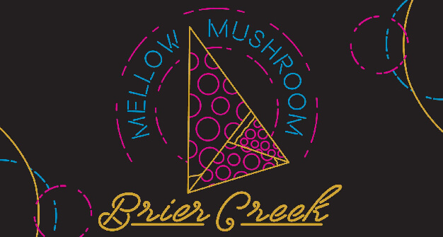 Mellow Mushroom Brier Creek local tee shirt design
